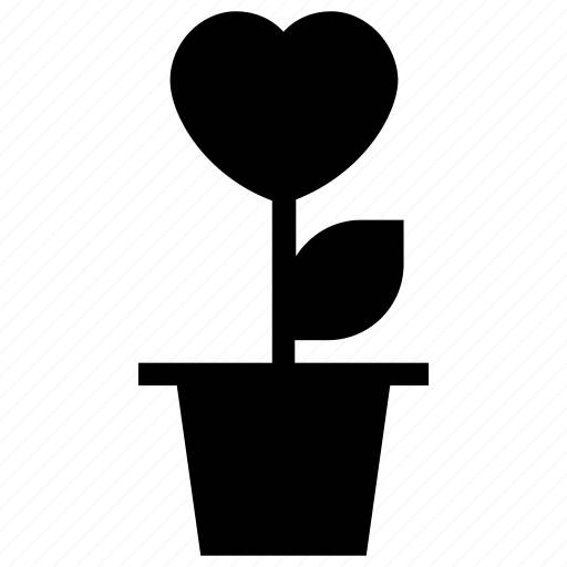 heart flowers, love, love concept, plant, romantic icon icon