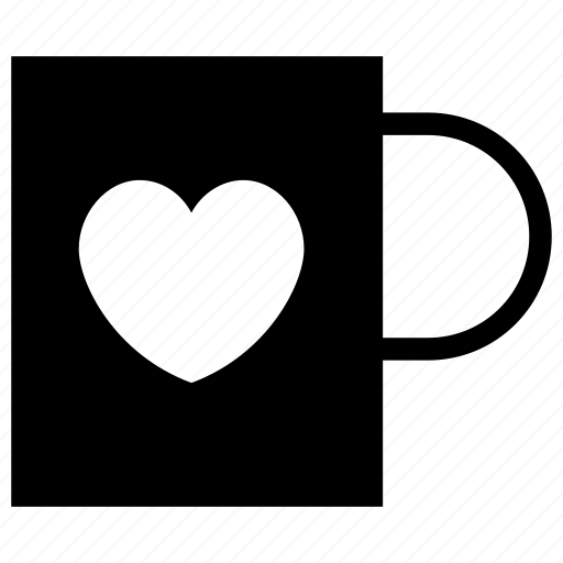 coffee, cup, heart, love, office, tea, work icon icon