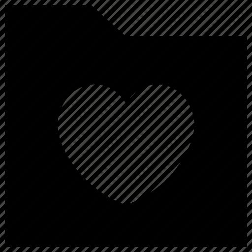 Affection folder, folder, love data, love folder, romantic folder icon icon - Download on Iconfinder