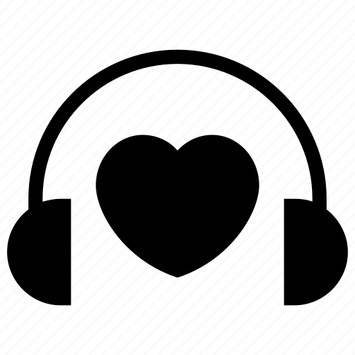 Happiness, headphone with heart, love, love inspiration, love music icon icon - Download on Iconfinder
