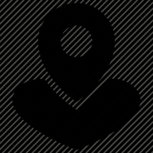 Heart, heart locator, heart pin, love pin, love symbol, romance icon icon - Download on Iconfinder