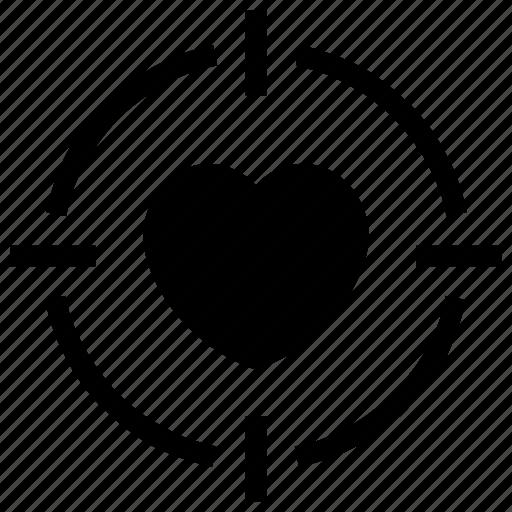 Heart, love, romance, target, valentine icon icon - Download on Iconfinder
