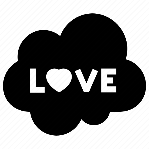cloud, cluouding, favorite, heart, love icon icon