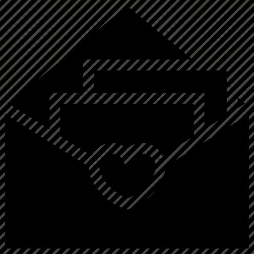 correspondence, letter, letter envelope, love letter, love mail, mail icon icon