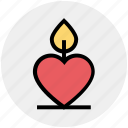 burning candle, candle, candle light, heart, heart candle, love candle, love sign icon
