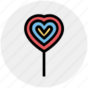 candy, heart, lollypop, love, romantic, sweet, valentine icon