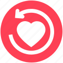 arrow, heart, like, love, refresh, reload, sync icon