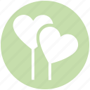 balloons, celebration, festival, heart, love, love balloon, wedding balloon icon
