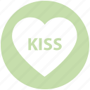 favorite, heart, kiss, love, romantic, valentine, valentines icon