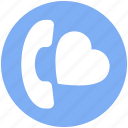 call, heart, love, message, phone, romantic, telephone icon