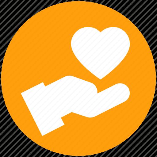 care, hand, healthcare, heart, love, medical, medicine icon