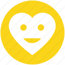 face, happy, heart, love, romantic, smile, valentines icon