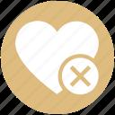 cross, favorite, heart, love, romantic, valentine, valentines icon