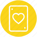 ace, card, heart, love, playing card, poker, poker card icon