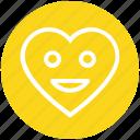 face, happy, heart, love, romantic, smile, valentines icon