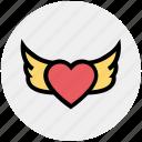 fly, heart bird, heart shaped bird, love sign, romantic, valentine day, wings icon