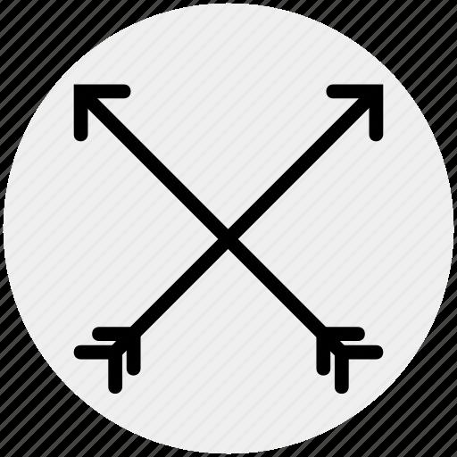 archery, arrow, arrows, bow, cupid bow, hunt icon