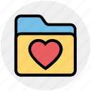 archive, bookmark, favorites, folder, heart, love, valentine icon