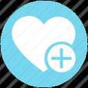 favorite, heart, love, plus, romantic, valentine, valentines icon
