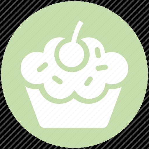 cake, cup, cupcake, dessert, food, pink, sweet icon