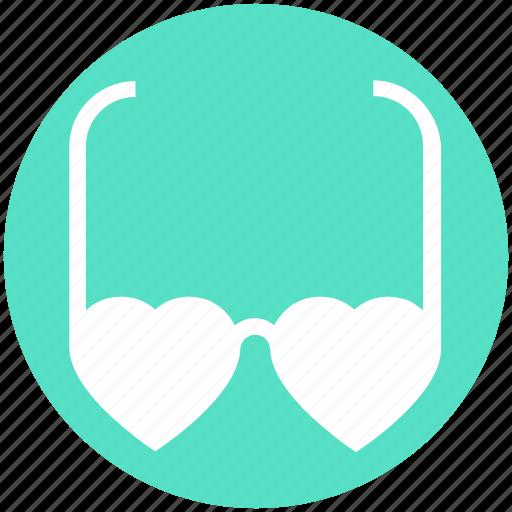 eyeglasses, glasses, heart glasses, love, style, sunglasses, valentine icon