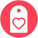 heart, heart label, heart tag, price, sale, shopping tag, tag icon