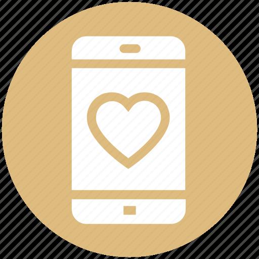 heart, love, love sign, mobile, mobile screen, phone, smartphone icon