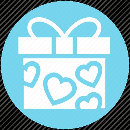 gift, gift box, heart, love, present, present box, wedding gift icon