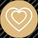 favorite, heart, love, romantic, special, valentine, valentines icon