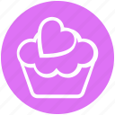 pink, cup, food, sweet, cupcake, dessert, cake