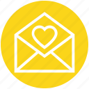 heart, invite, wedding, envelope, invitation, message, open