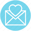 envelope, heart, invitation, invite, letter, message, wedding icon