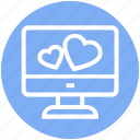 display, heart, lcd, love, love sign, screen, screen heart icon