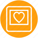frame, heart, image, love, photo, picture, valentine icon