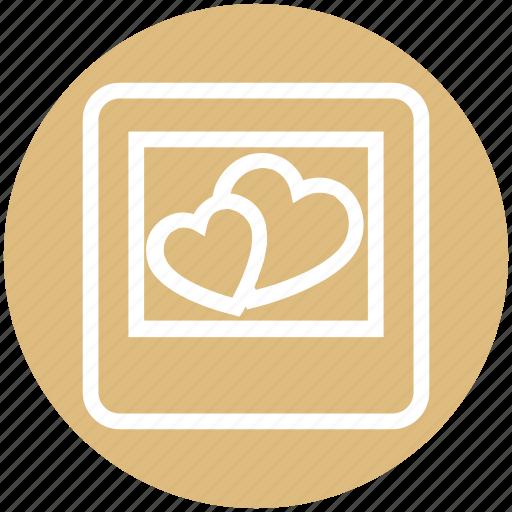 frame, heart, image, love, photo, picture, valentine icon