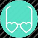 style, eyeglasses, love, valentine, heart glasses, sunglasses, glasses