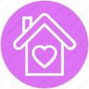 building, heart, sweet home, love, house, valentine, home