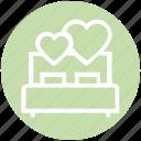 heart, love, honeymoon, bed, valentine, romance, bedroom