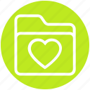 archive, bookmark, favorites, folder, heart, love, valentine icon