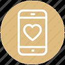 heart, love sign, smartphone, love, mobile, mobile screen, phone