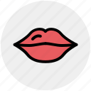 emotion, female, kiss, lips, lipstick, love, romance icon