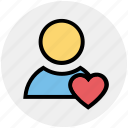 boyfriend, heart, in love, love, lover, male, valentine icon