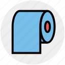 cleaning paper, hygiene, paper, roll, tissue, tissue paper icon