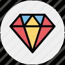 brilliant, diamond, gem, gemstone, jewelry, luxury, ruby icon
