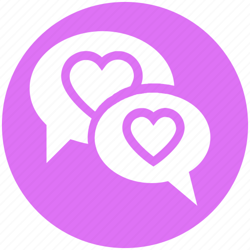 Chatting, communication, conversation, heart, love, message, valentine icon - Download on Iconfinder