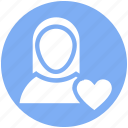 female, girlfriend, heart, in love, love, lover, valentine icon