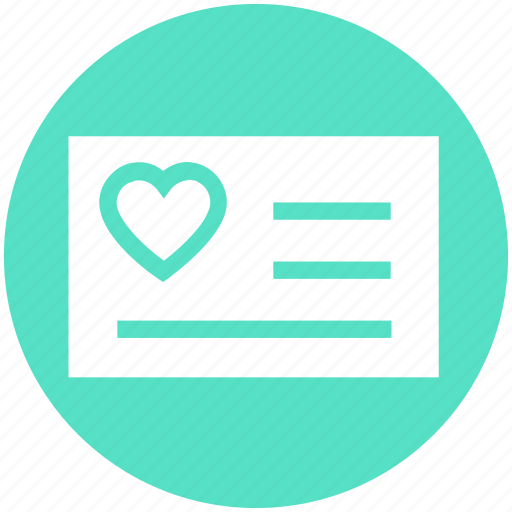 Card, heart, list, love, paper, valentine, wish card icon - Download on Iconfinder