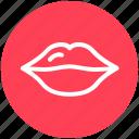 emotion, female, kiss, lips, lipstick, love, romance icon