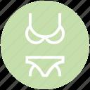 bikini, clothes, fantasy bikini, pantie, string bikini, underwear, woman icon