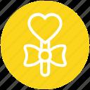 celebration, heart, heart shaped balloon, party, ribbon, stick, valentine balloon icon